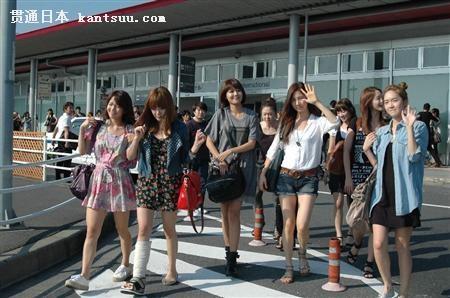 少女时代抵达日本开showcase