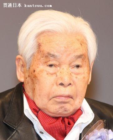 日本导演新藤兼人 拍摄于2012年2月