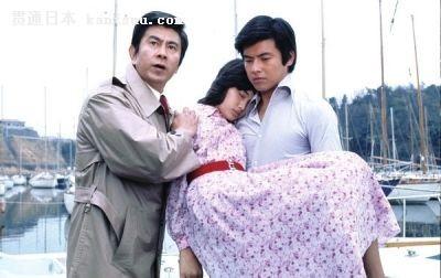 宇津井健、山口百惠、三浦友和(左起)赚了不少眼泪.《血疑》剧照图片